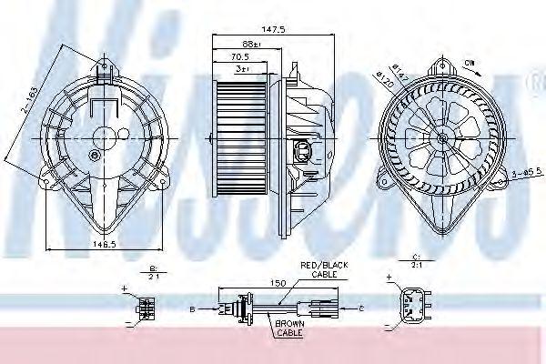 Вентилятор салона NISSENS арт. 87024