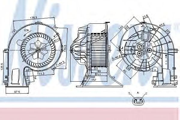 Вентилятор салона NISSENS арт. 87025