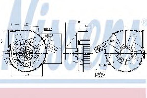 Вентилятор салона NISSENS арт. 87028