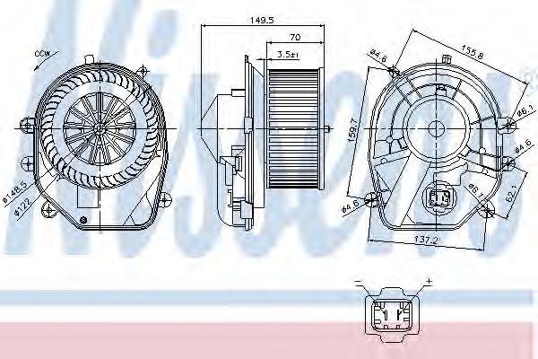 Вентилятор салона NISSENS арт. 87030