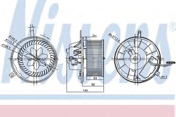 Вентилятор салона NISSENS арт. 87032