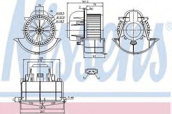 Вентилятор салона NISSENS арт. 87139