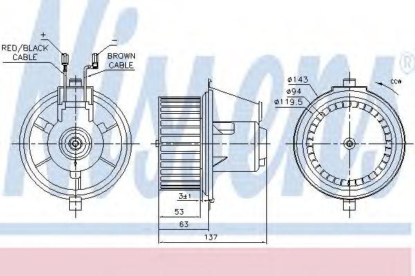 Вентилятор салона NISSENS арт. 87148