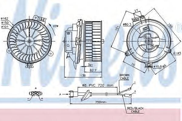 Вентилятор салона NISSENS арт. 87153