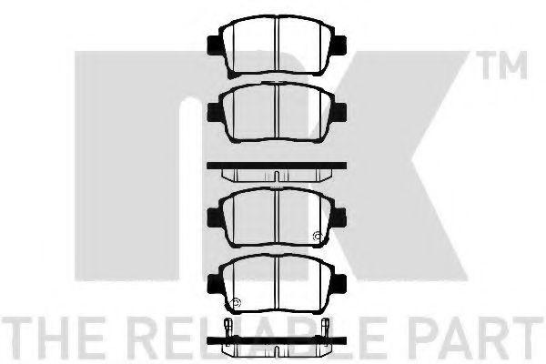Колодки гальмівні дискові NK 224558