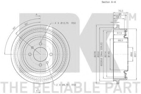 Барабан гальмівний NK 253914