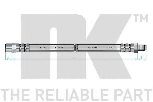 Тормозной шланг NK арт. 859910