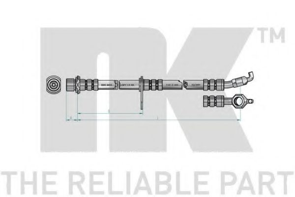 Тормозной шланг NK арт. 854542