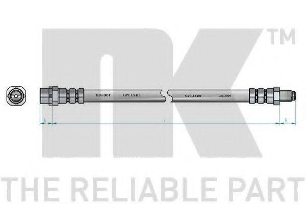 Тормозной шланг NK арт. 851520