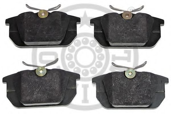 Комплект тормозных колодок, дисковый тормоз OPTIMAL арт. 10100