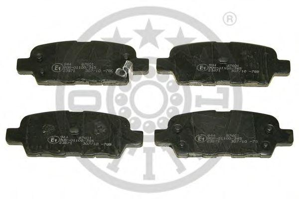 Комплект тормозных колодок, дисковый тормоз OPTIMAL арт.