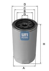 Масляный фильтр UFI арт.