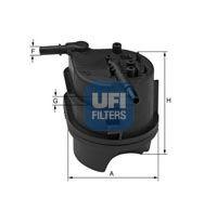 Топливный фильтр UFI арт.