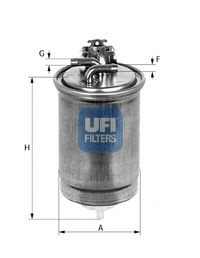 Фильтры топливные Топливный фильтр UFI арт. 2443000