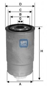 Паливний фільтр UFI 24H2O00