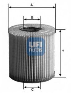 Фильтры масляные Масляный фильтр UFI арт. 2507100