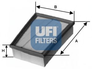 Фильтры воздуха салона автомобиля Воздушный фильтр UFI арт.