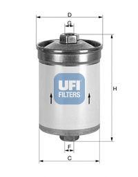 Фильтры топливные Топливный фильтр UFI арт.