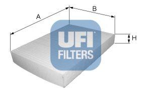 Фильтры прочие Фильтр, воздух во внутренном пространстве UFI арт.