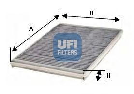 Фильтр, воздух во внутренном пространстве UFI арт.
