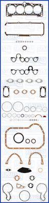 Комплект прокладок з різних матеріалів AJUSA 50026100