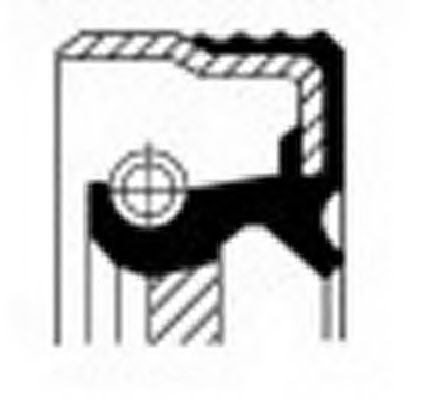 Уплотняющее кольцо, коленчатый вал CORTECO арт. 12018321B