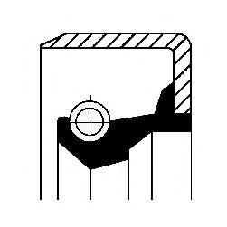 Уплотняющее кольцо вала, топливный насос высокого давления CORTECO арт. 12015322B