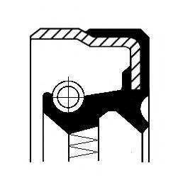 Уплотняющее кольцо, ступица колеса CORTECO арт. 01026327B