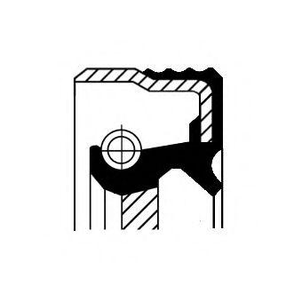 Уплотняющее кольцо, коленчатый вал CORTECO арт. 12013858B