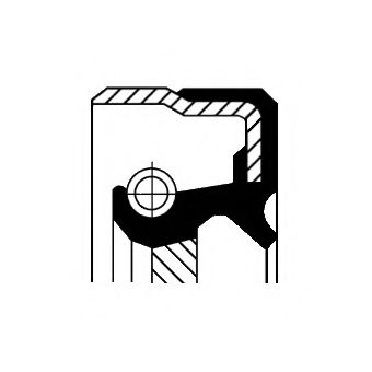 Уплотняющее кольцо, коленчатый вал CORTECO арт.