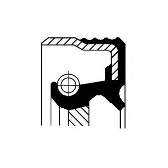 Уплотняющее кольцо, коленчатый вал CORTECO арт. 12012579B
