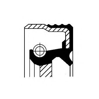 Уплотняющее кольцо, промежуточный вал CORTECO арт. 12015093B