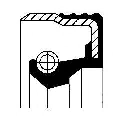 Уплотняющее кольцо вала, топливный насос высокого давления CORTECO арт. 12019585B
