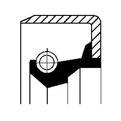 Уплотняющее кольцо, ступица колеса CORTECO арт. 12011493B