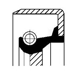 Сальник коленвала Ваз 2101-07/Sens передний Corteco  CORTECO арт. 12011455B