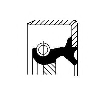 Сальник коленвала Ваз 2101-07/Sens задний Corteco  CORTECO арт. 12011438B