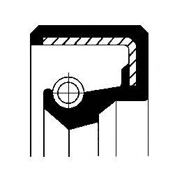 Уплотняющее кольцо, коленчатый вал CORTECO арт. 12010943B