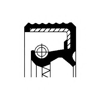 Уплотняющее кольцо, ступенчатая коробка передач CORTECO арт. 12015555B