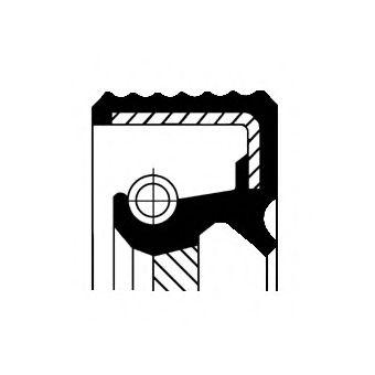 Уплотняющее кольцо, ступенчатая коробка передач CORTECO арт. 01019287B