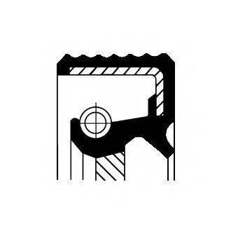 Уплотняющее кольцо, коленчатый вал CORTECO арт. 15015833B
