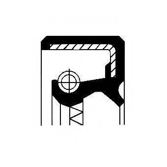 Уплотняющее кольцо, ступица колеса CORTECO арт. 12011175B