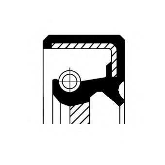 Уплотняющее кольцо вала, масляный насос CORTECO арт.