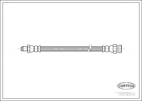 Тормозной шланг CORTECO арт. 19018510