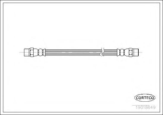 Тормозной шланг CORTECO арт. 19018649