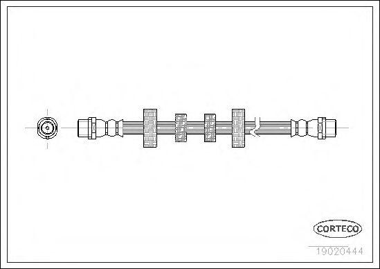 Тормозной шланг CORTECO арт. 19020444