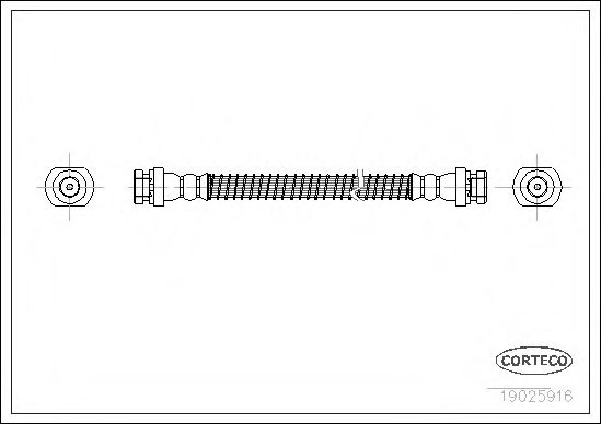 Тормозной шланг CORTECO арт.