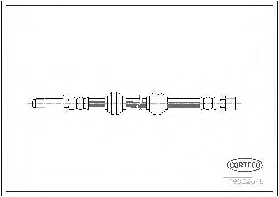 Тормозной шланг CORTECO арт. 19032848