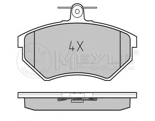Комплект тормозных колодок, дисковый тормоз MEYLE арт. 0252016816