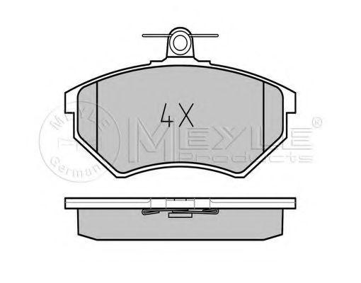 Комплект тормозных колодок, дисковый тормоз MEYLE арт. 0252016819