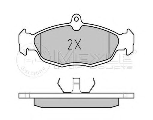 Комплект тормозных колодок, дисковый тормоз MEYLE арт. 0252054716